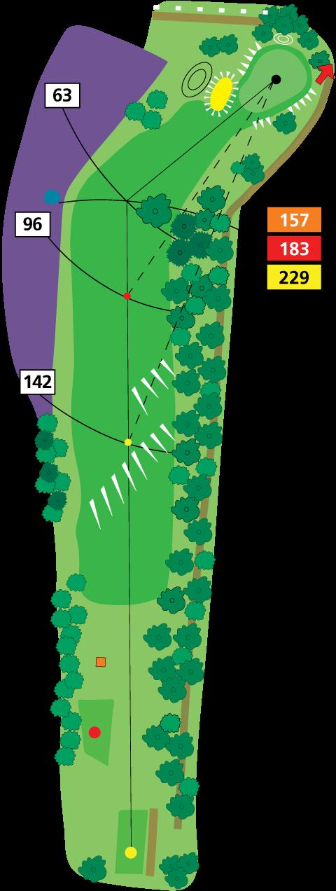 Plattegrond per hole op Golfclub de Koepel